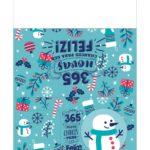 Calendario de Mesa Natal 2021 boneco de neve 222