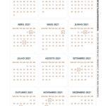 Calendario de Mesa Natal 2021 dourado 22