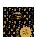 Calendario de Mesa Natal 2021 preto e dourado 3