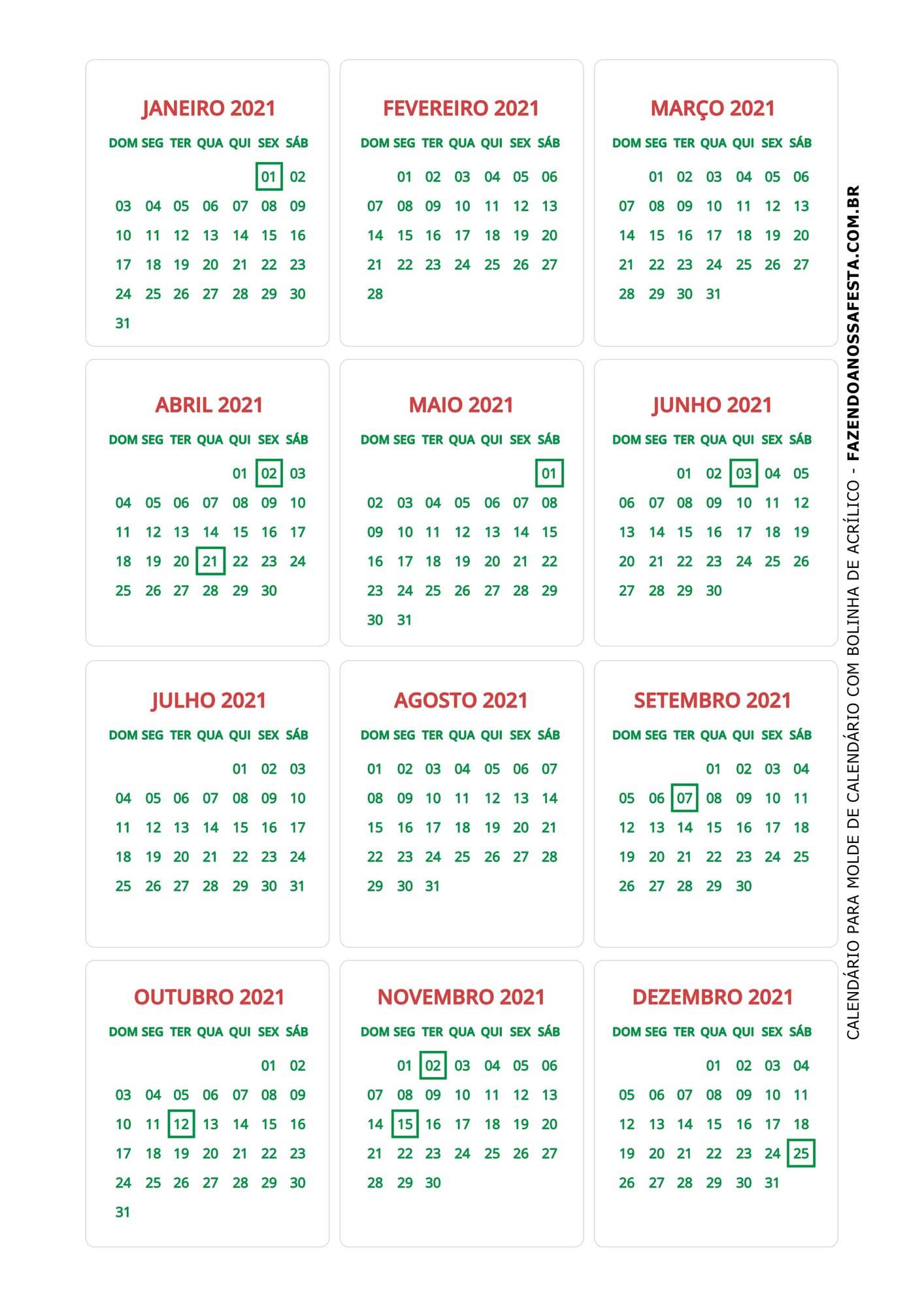 Calendario de Mesa Natal 2021 sapatinho 22