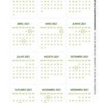 Calendario de Mesa Natal 2021 verde e vermelho 122