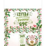 Calendario de Mesa Natal 2021 verde e vermelho 222
