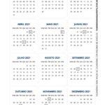 Calendario de mesa 2021 com bolinha 2