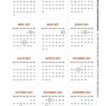 Calendario de mesa 2021 com bolinha de acrilico 2