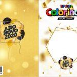 Capa Livrinho para Colorir Ano Novo 2020