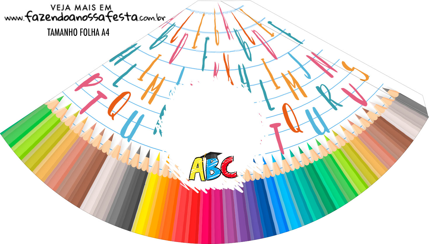 Chapeu de Festa Personalizado Formatura ABC