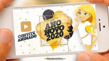 Convite Animado Ano Novo 2020