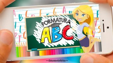 Convite Animado Formatura ABC gratis