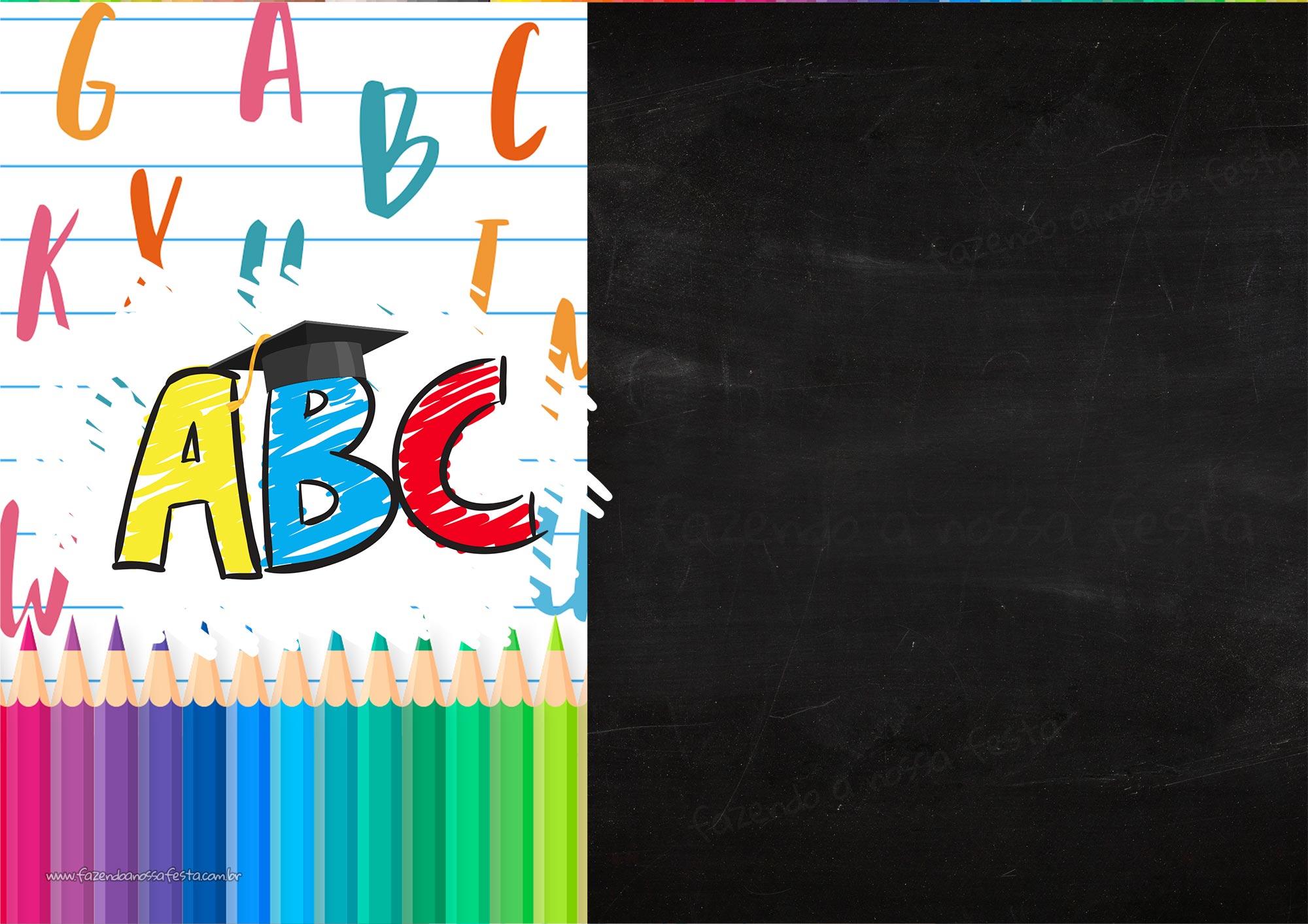 Convite Chalkboard Formatura Infantil 2