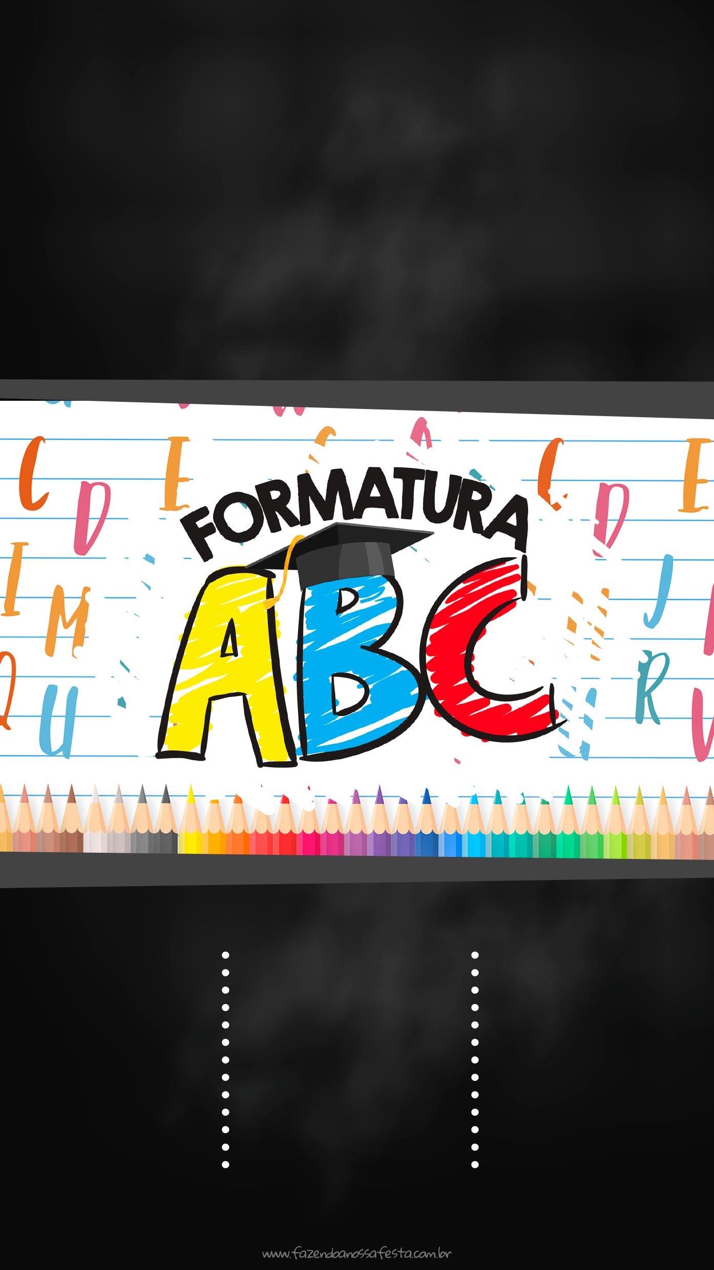 Convite Virtual Formatura ABC para imprimir
