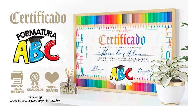 Diploma Formatura ABC para editar