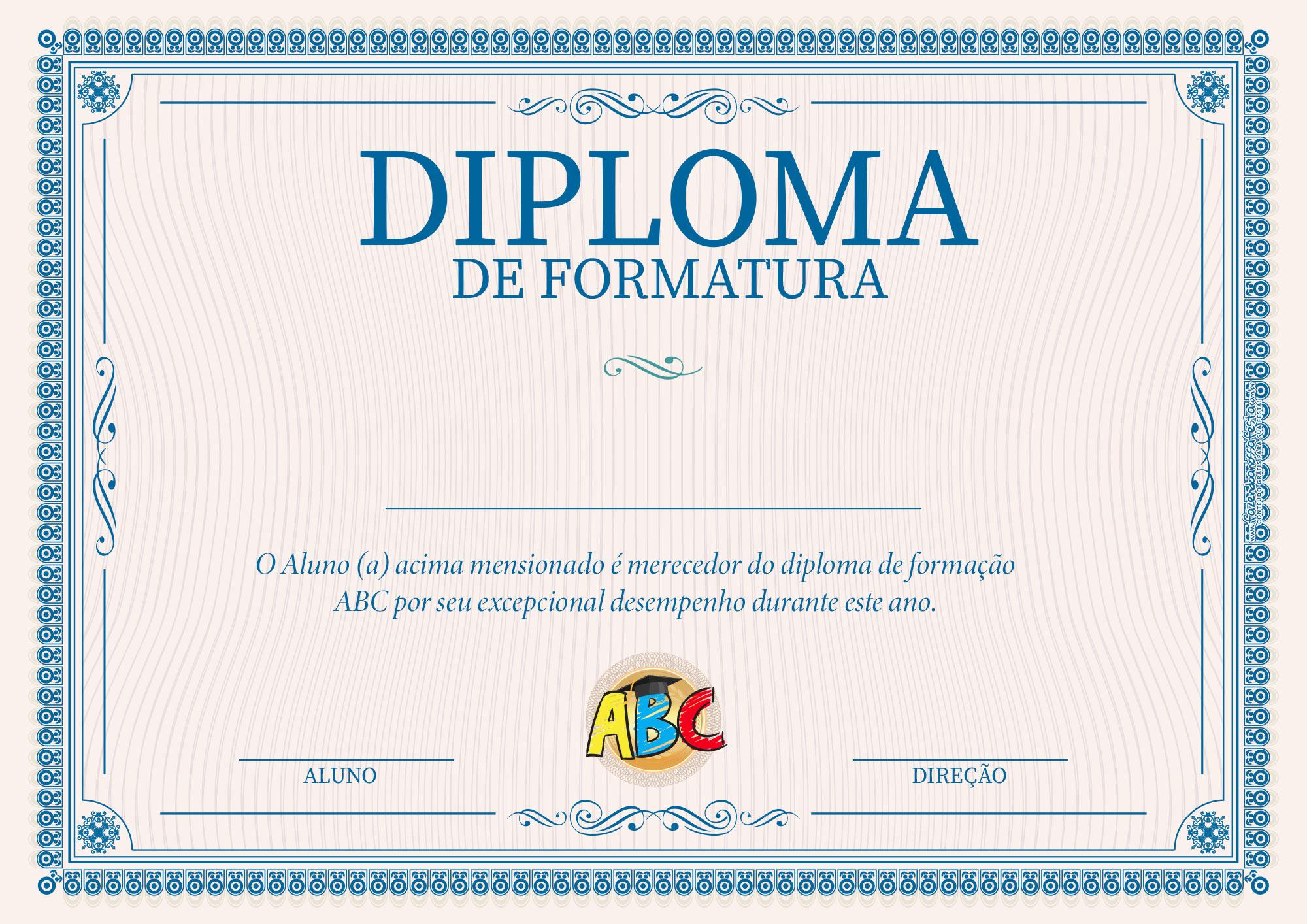 Diploma Formatura ABC
