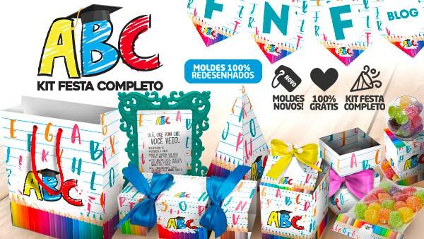 Kit Festa Formatura ABC para imprimir