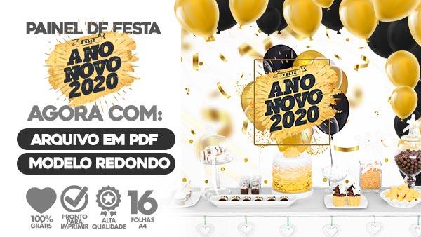 Painel Festa Ano Novo 2020