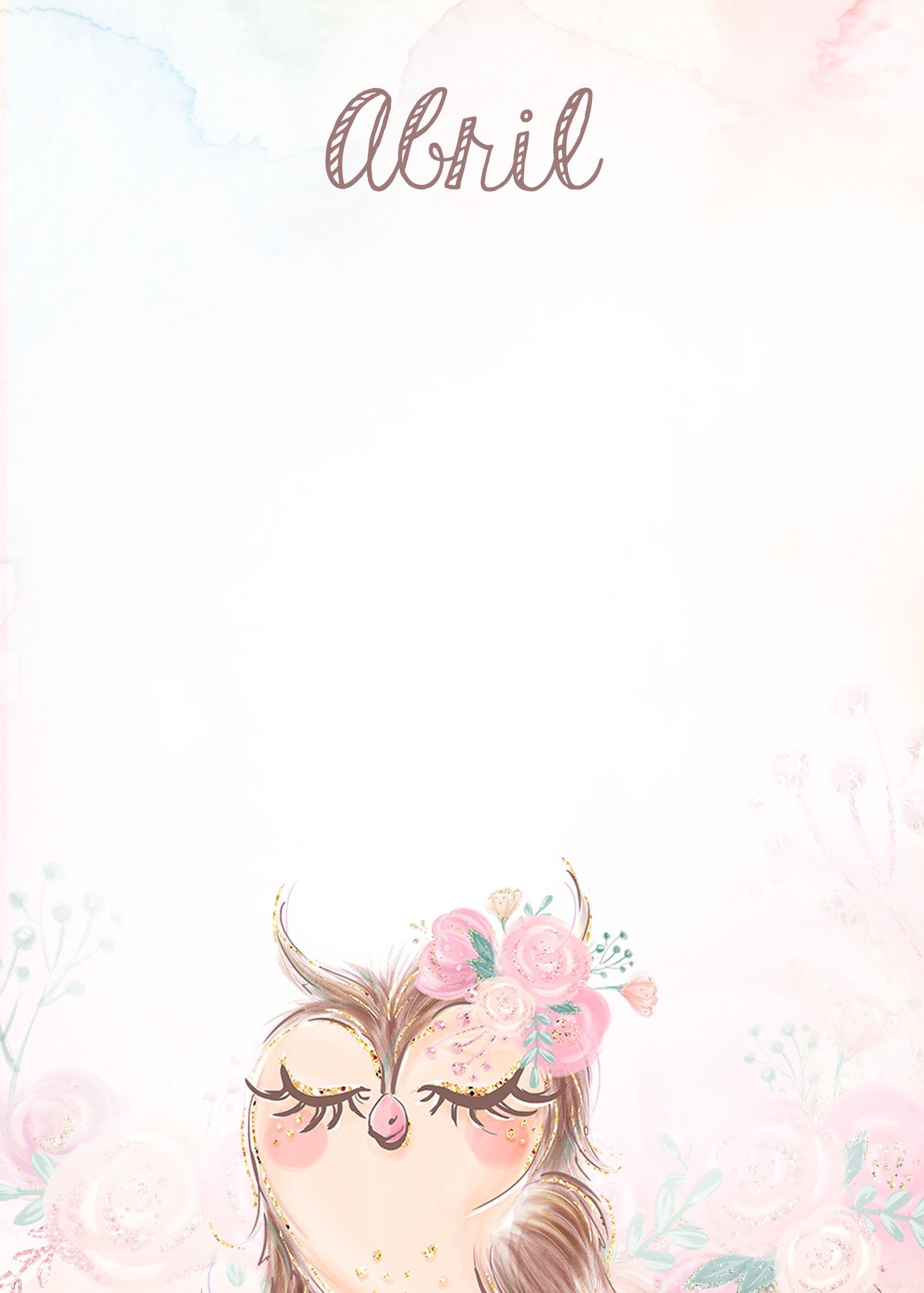 Planner 2020 Corujinha capa abril