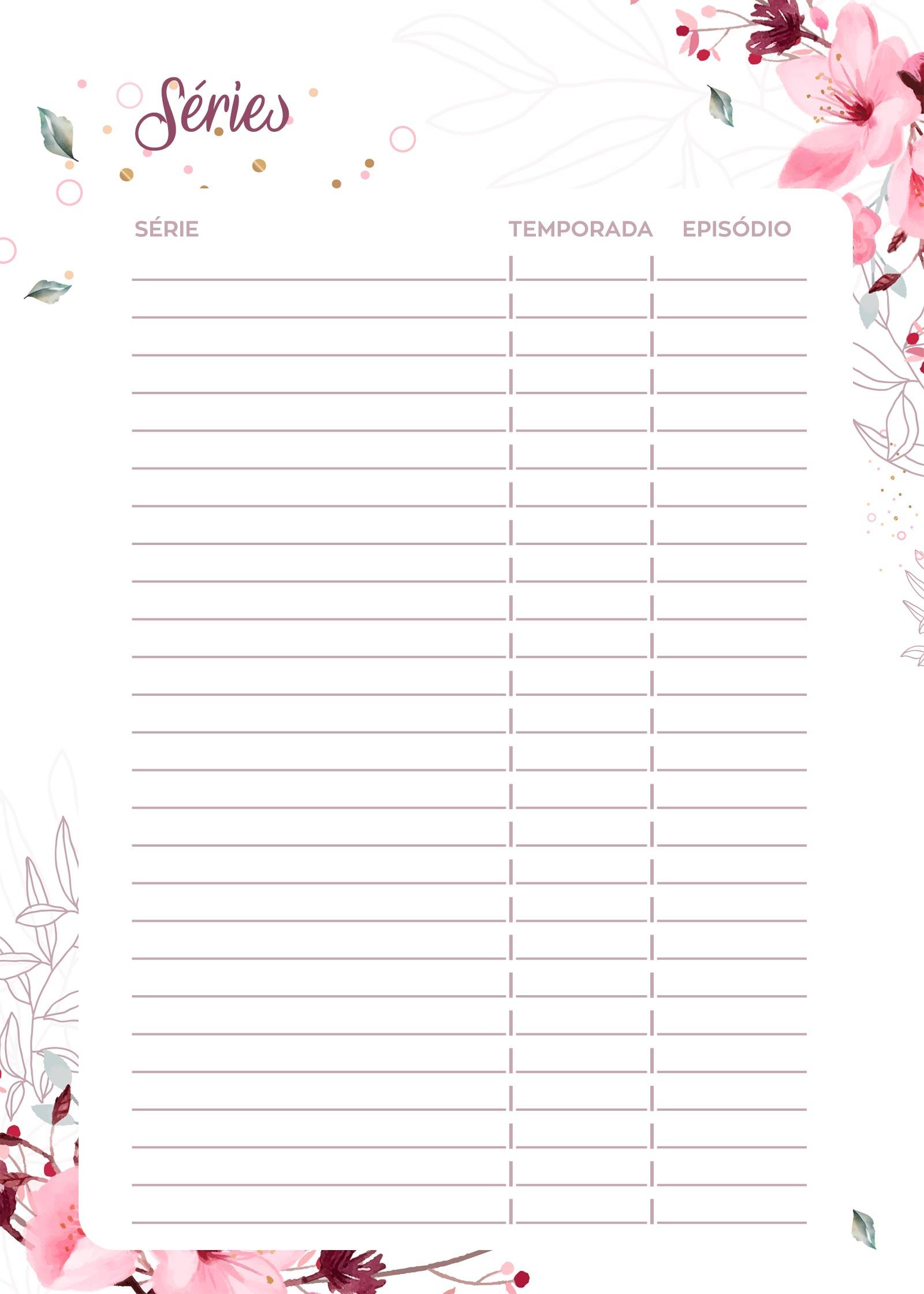 Planner 2020 Floral series