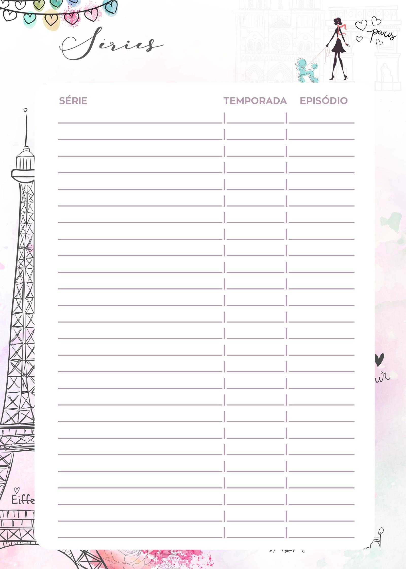 Planner 2020 Paris series
