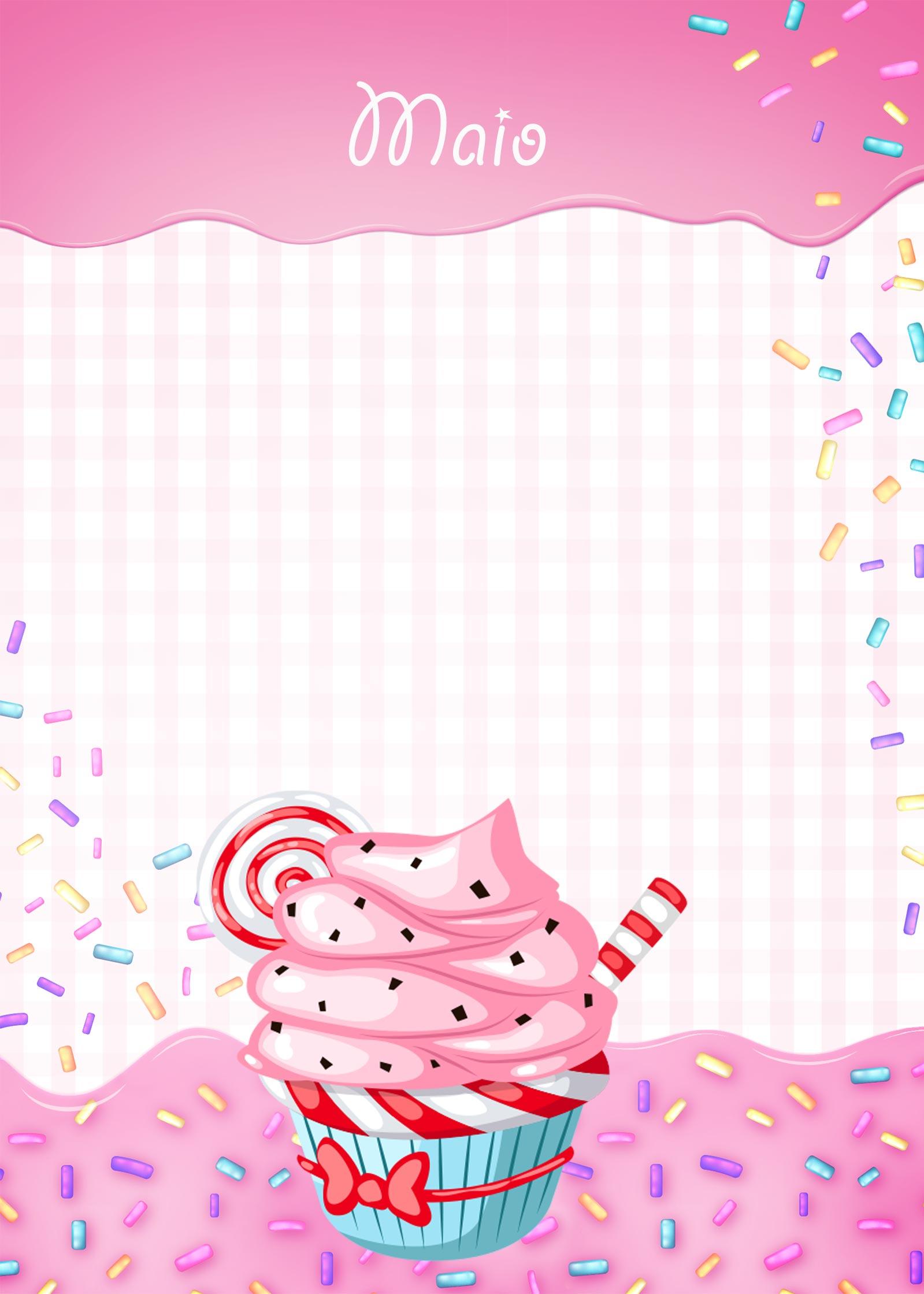 Planner 2020 cupcake capa maio