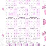 Planner Borboletas Calendario 2021