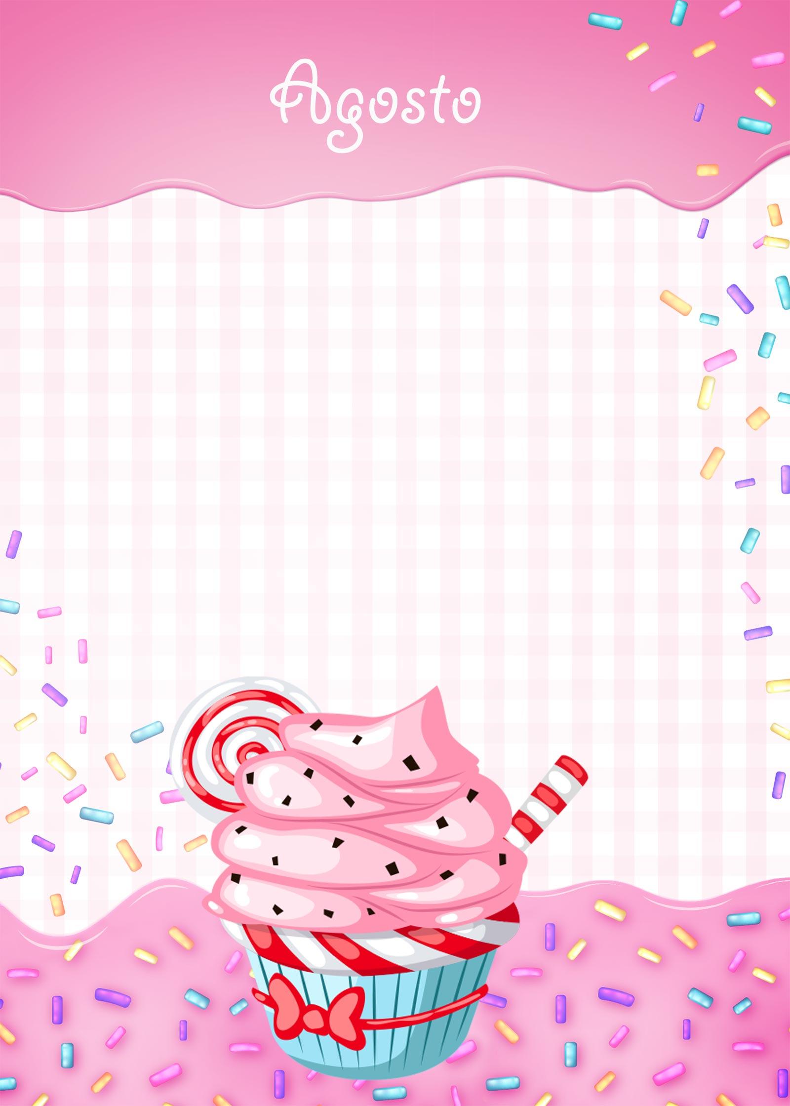 Planner Cupcake capa agosto