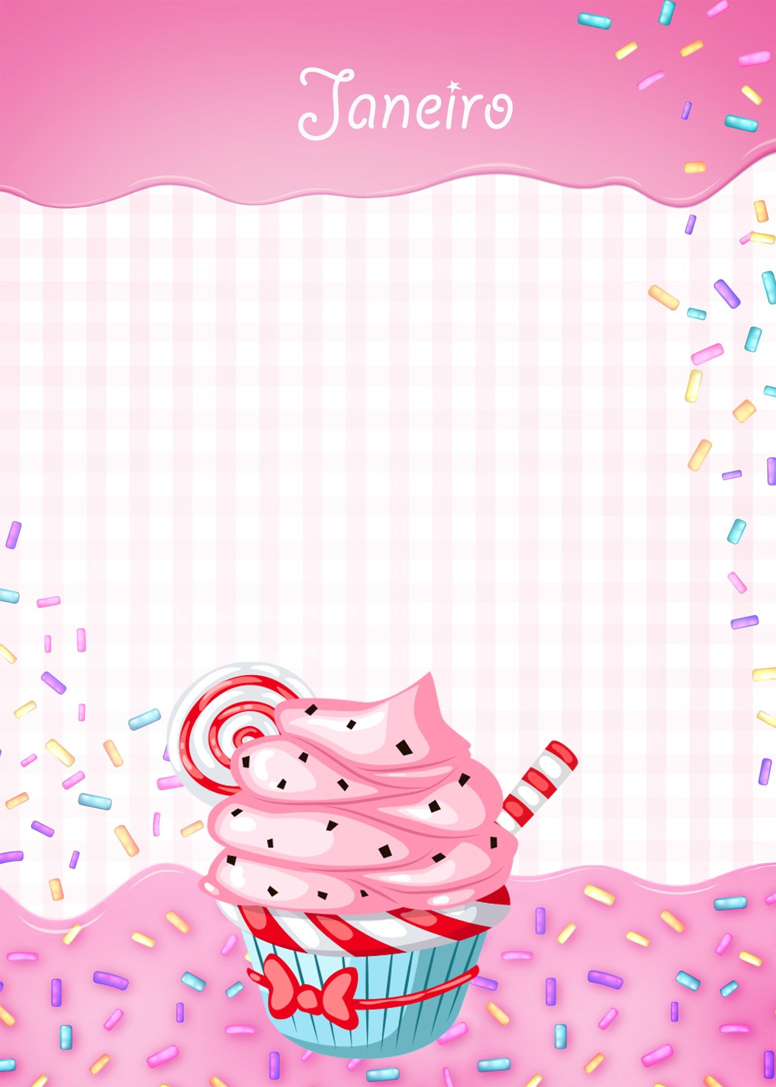 Planner Cupcake capa janeiro