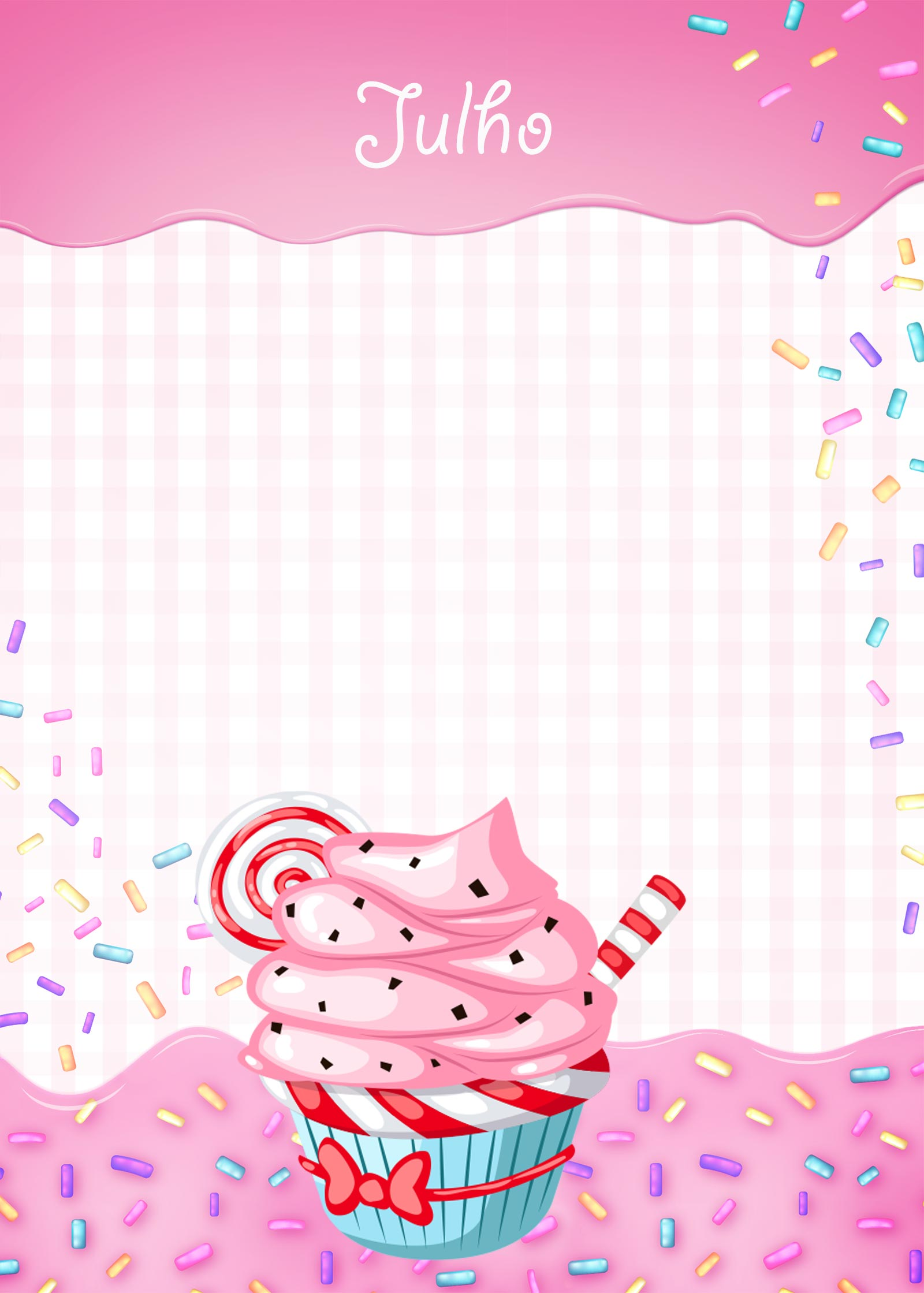 Planner Cupcake capa julho