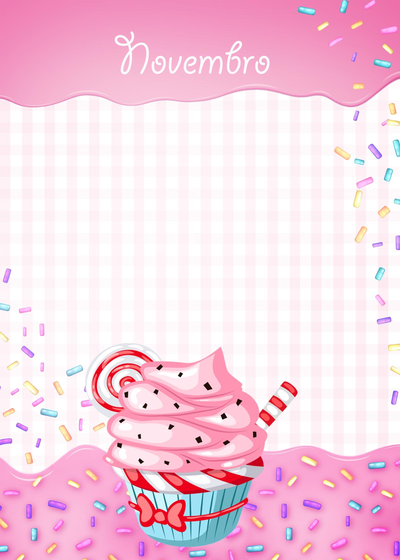 Planner Cupcake capa novembro