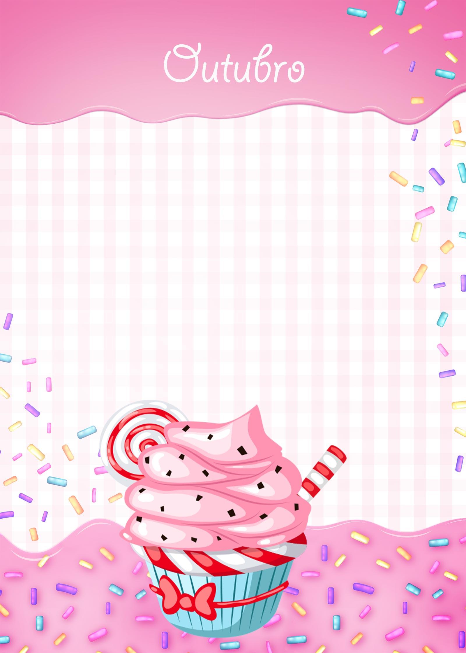 Planner Cupcake capa outubro