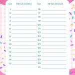 Planner Cupcake metas diarias set