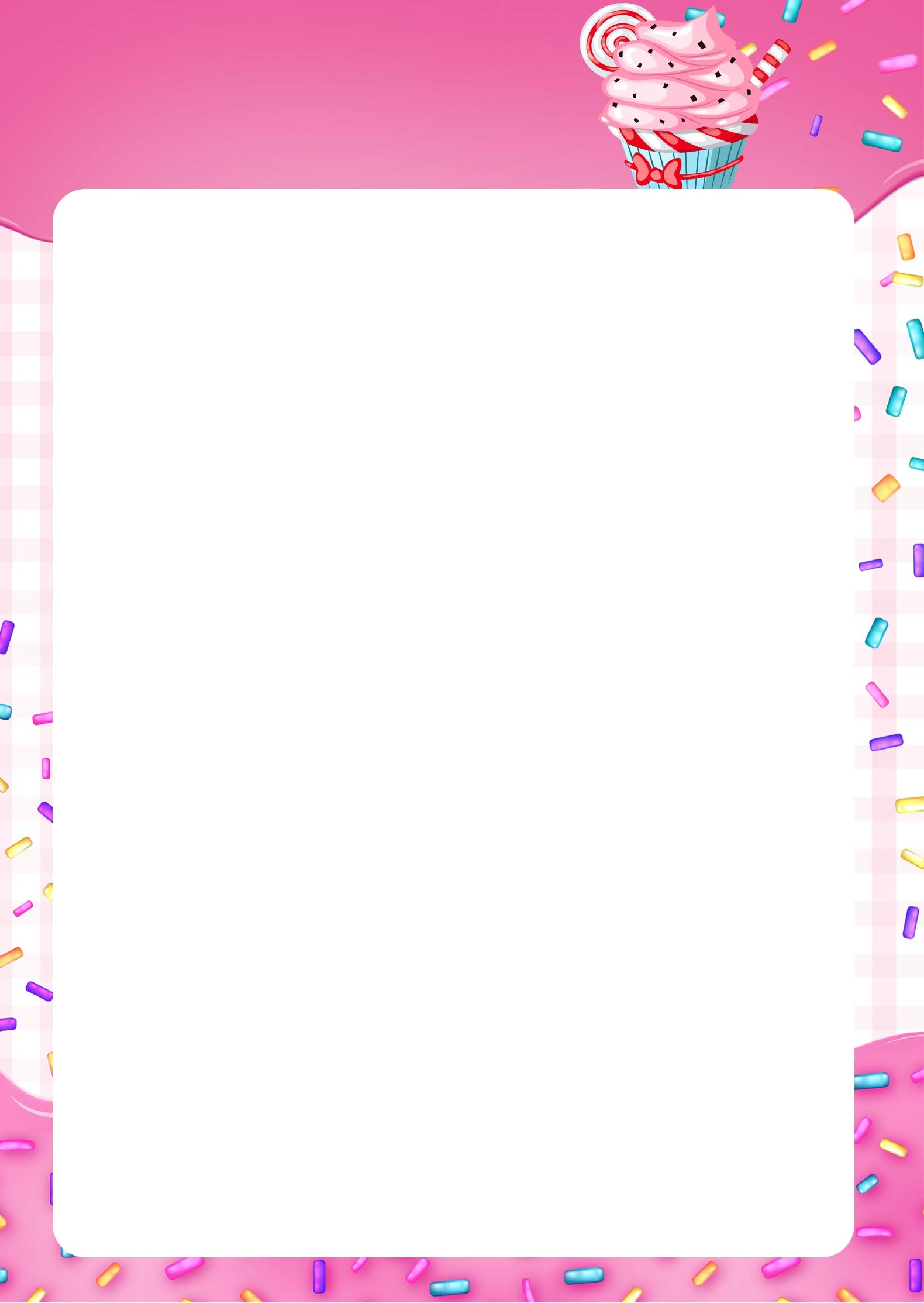 Planner Cupcake pagina em branco