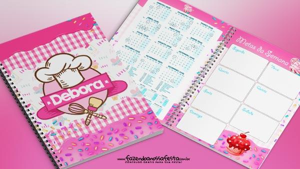 Planner Cupcakes para imprimir