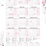 Planner Floral Calendario 2021