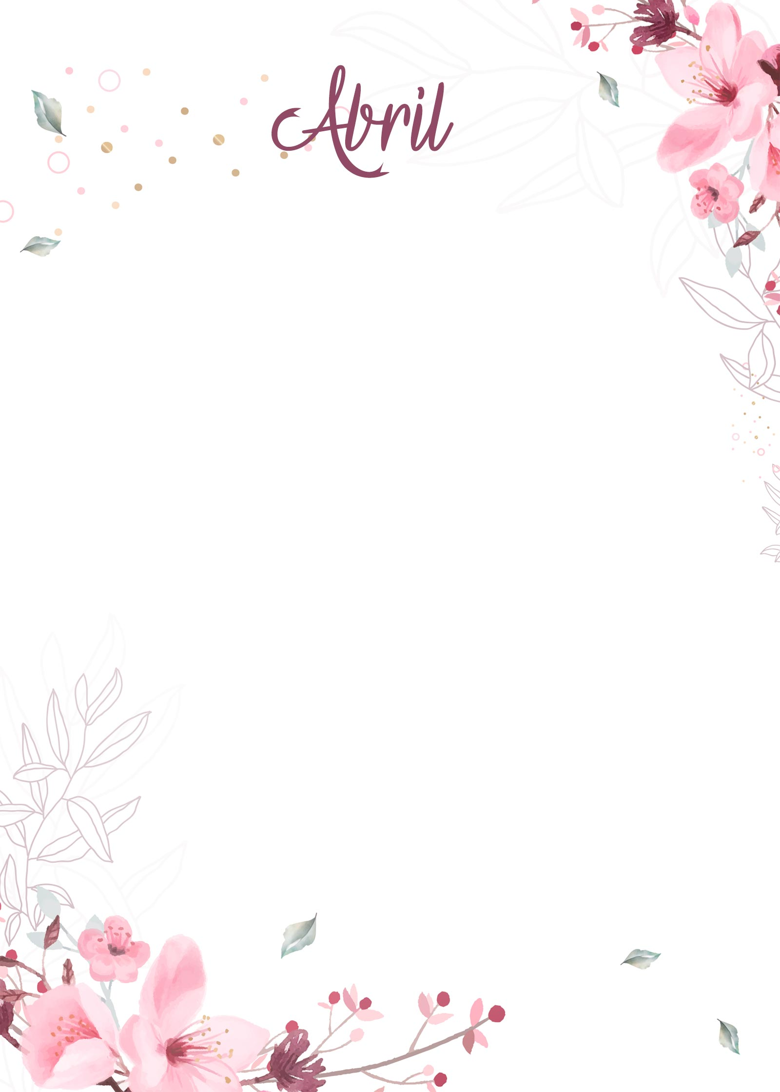 Planner Floral capa abril