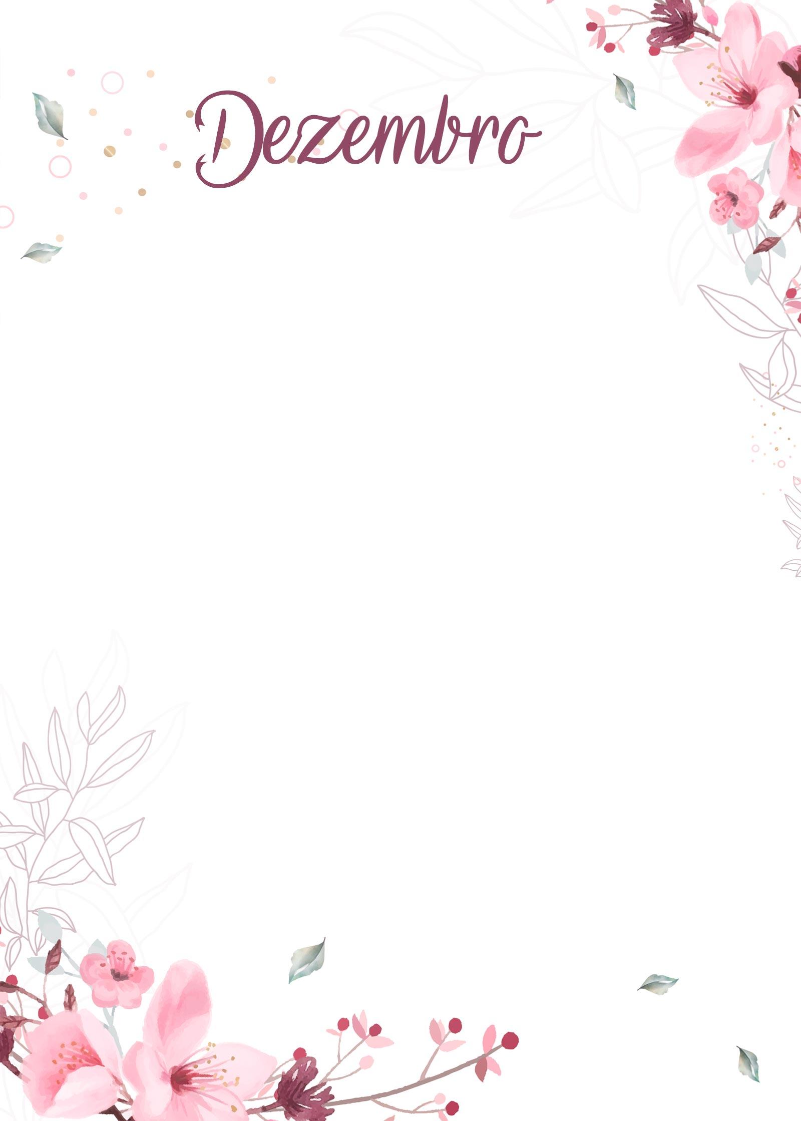 Planner Floral capa dezembro
