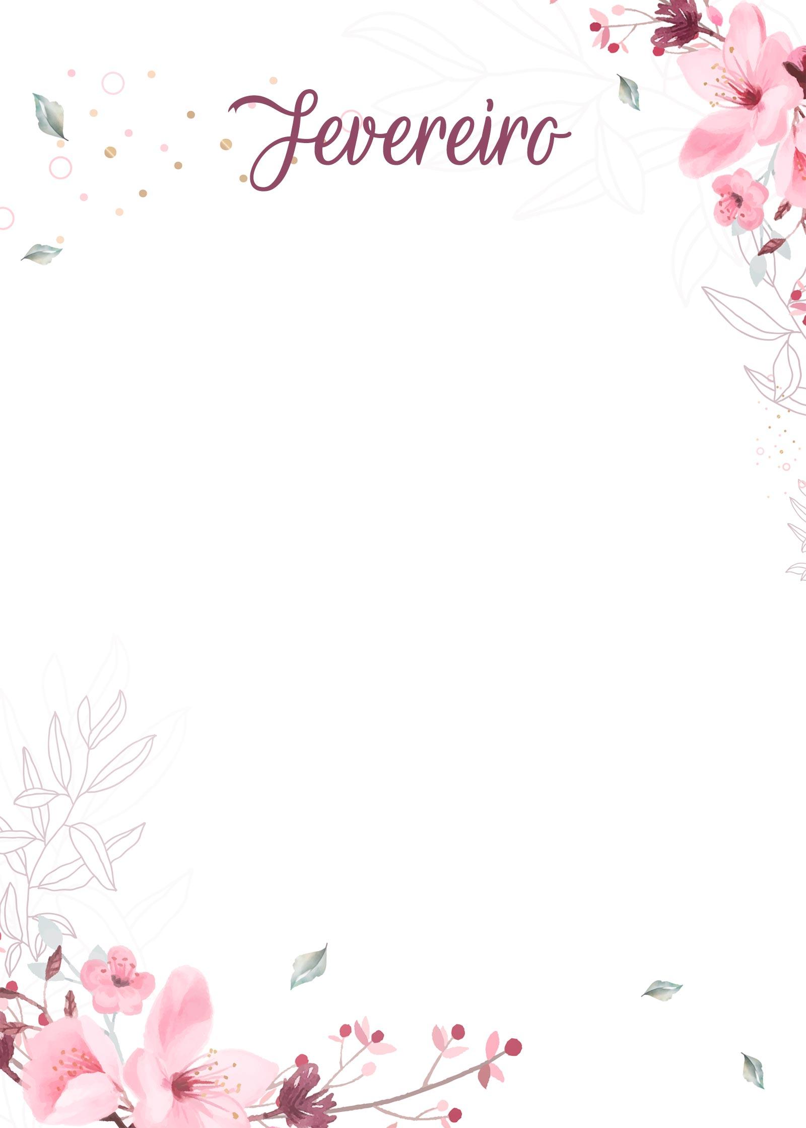 Planner Floral capa fevereiro