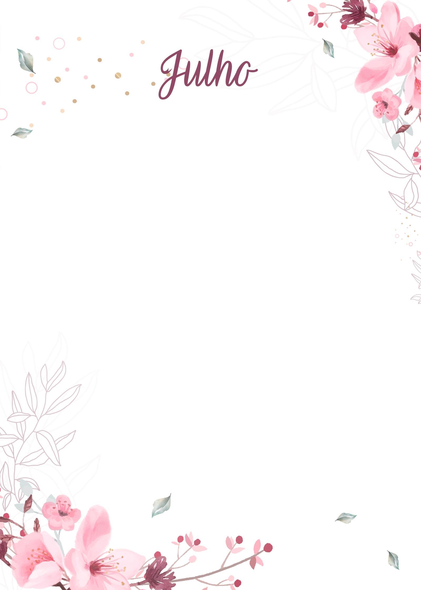 Planner Floral capa julho