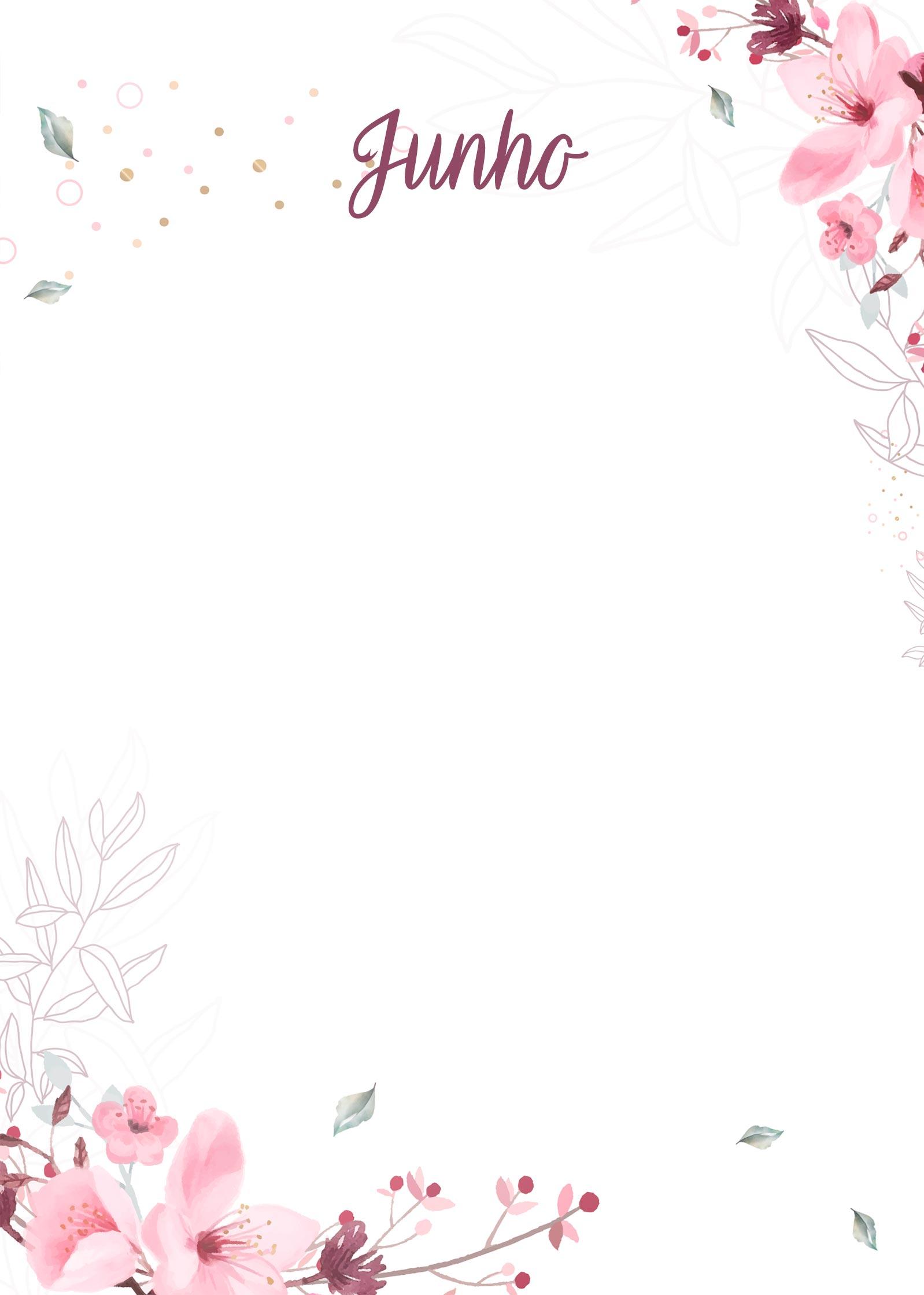 Planner Floral capa junho