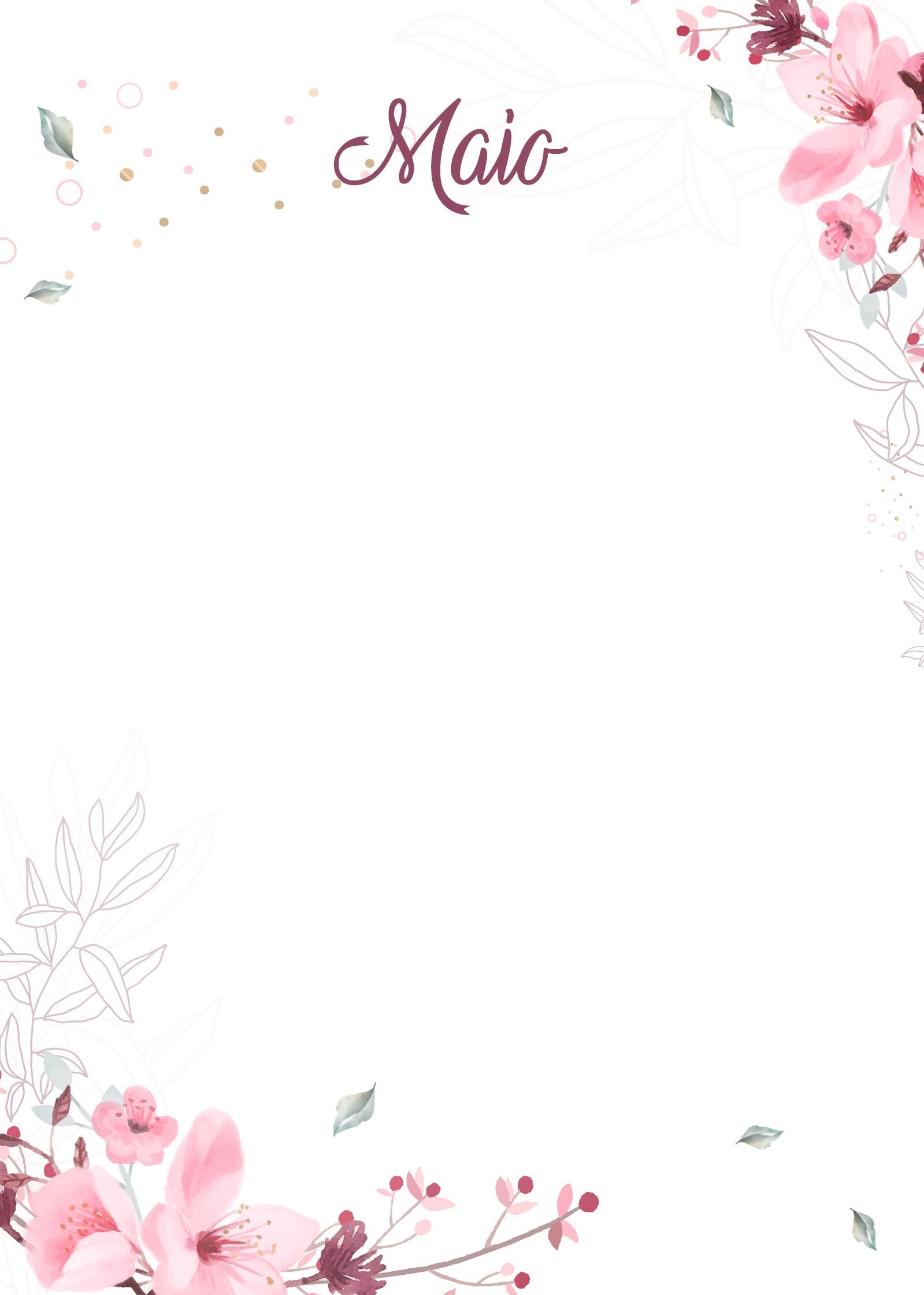 Planner Floral capa maio