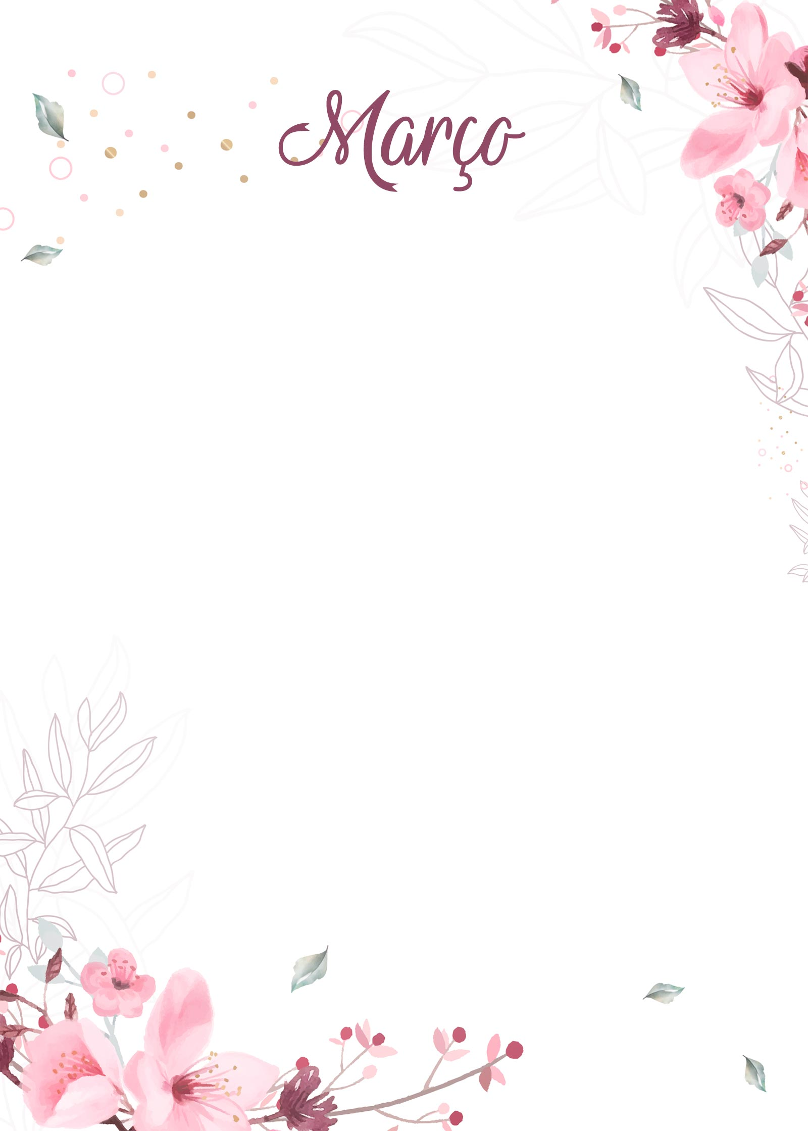 Planner Floral capa marco