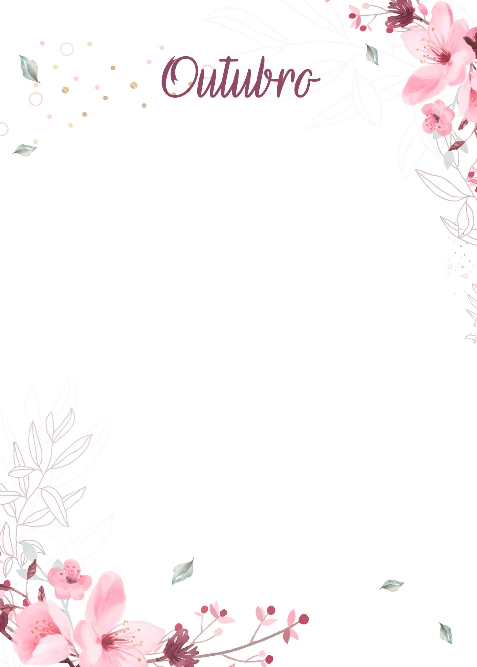 Planner Floral capa outubro