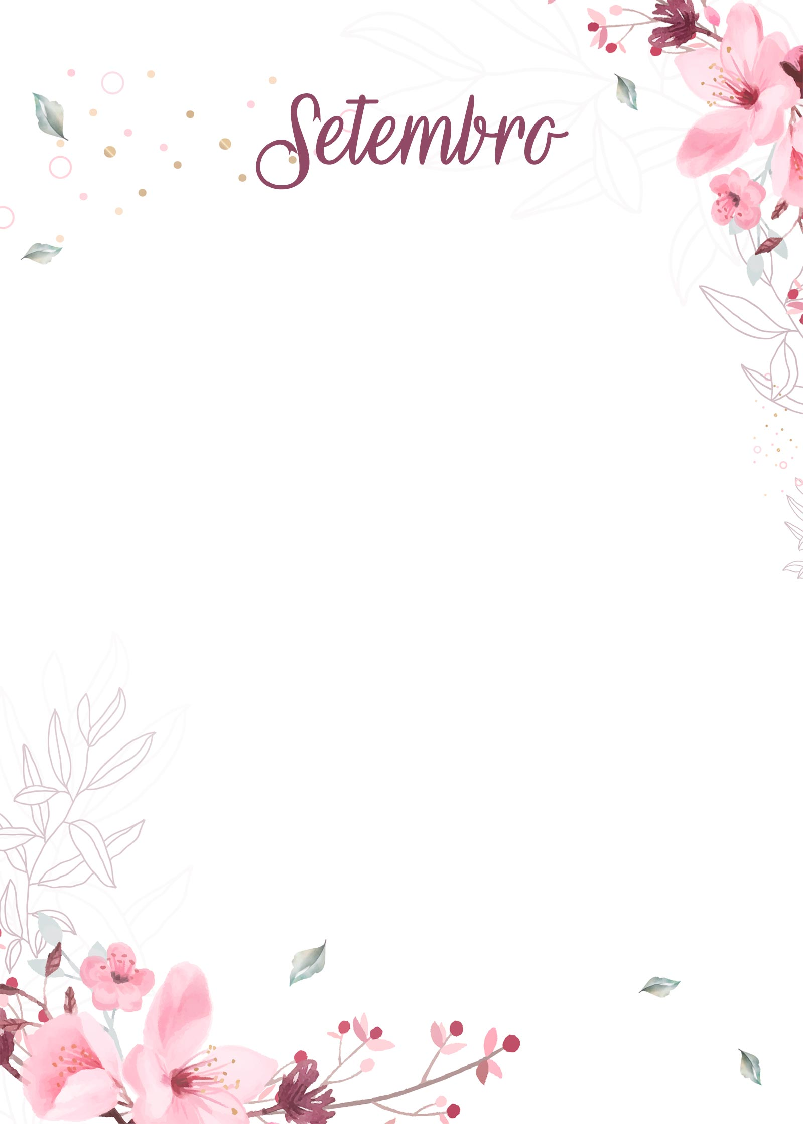 Planner Floral capa setembro
