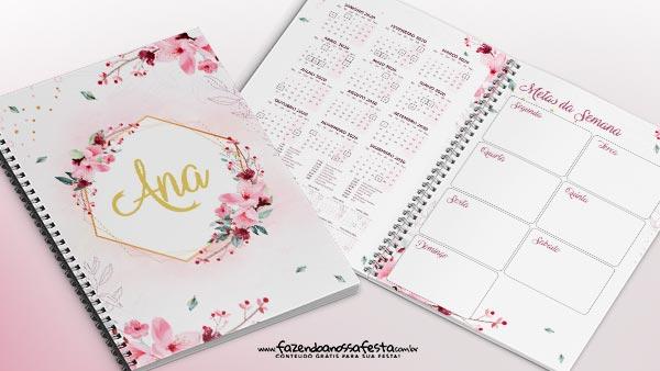 Planner Floral 2020 para imprimir