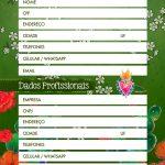 Planner Frida Kahlo dados pessoais