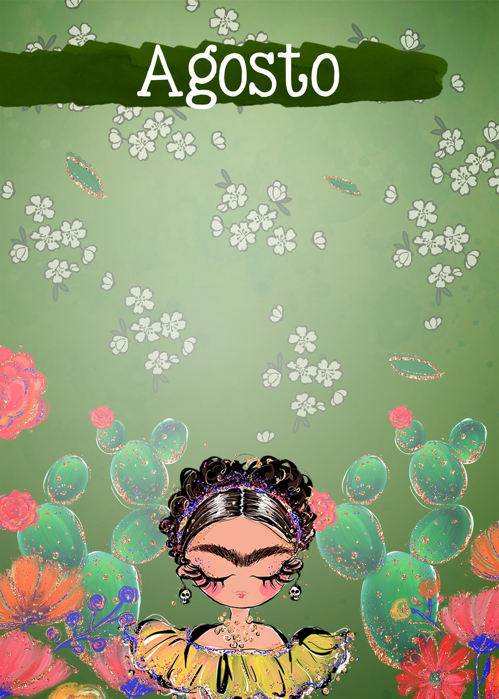 Planner Frida capa agosto