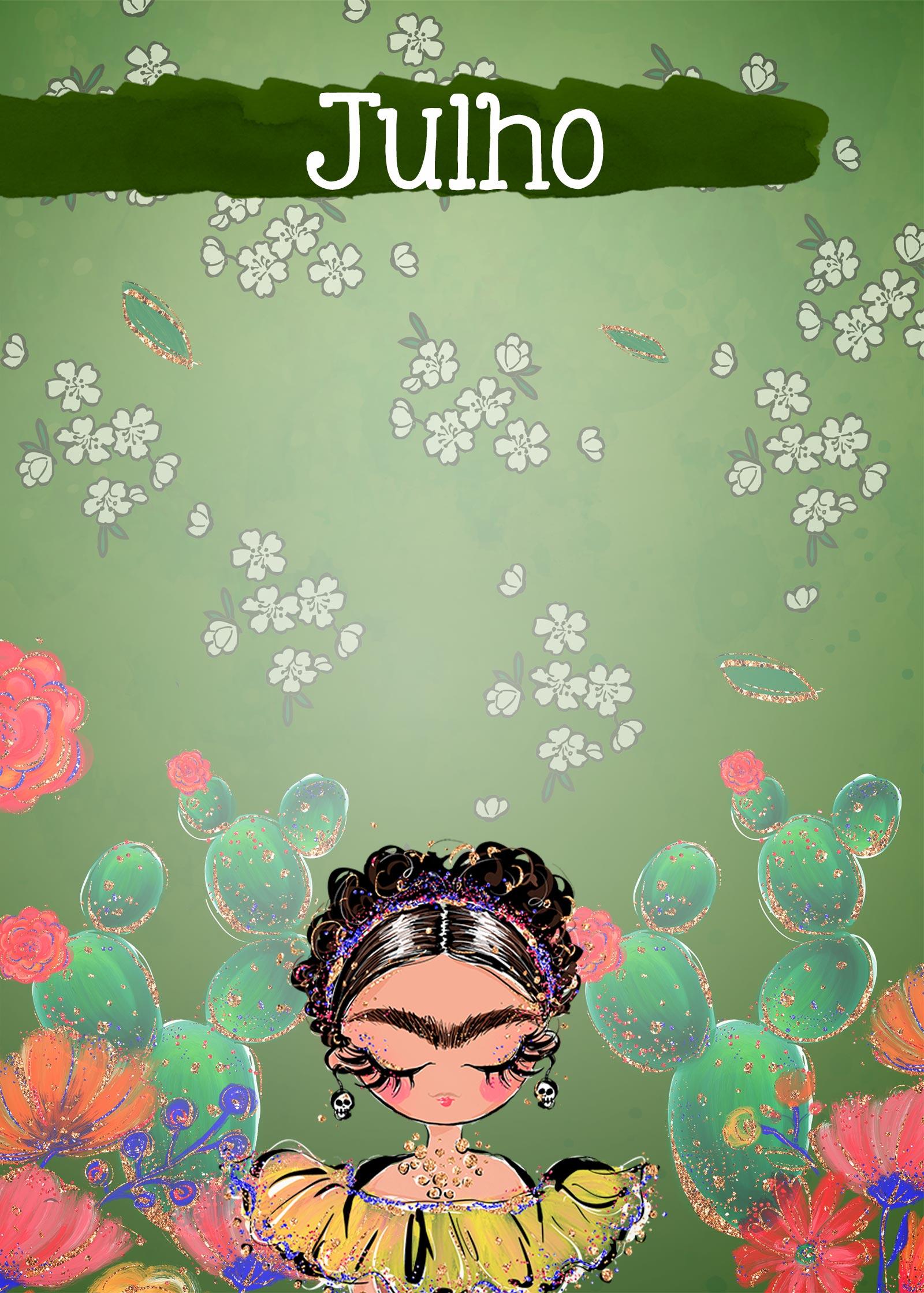 Planner Frida capa julho