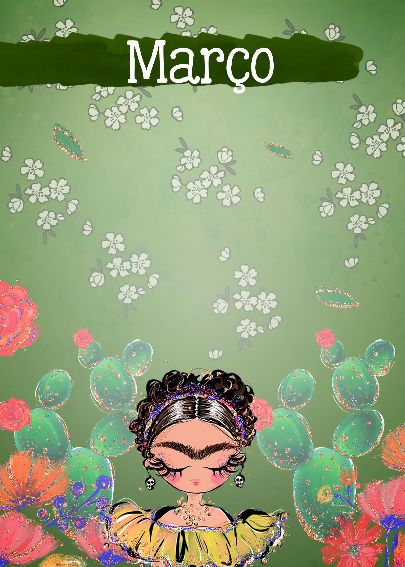 Planner Frida capa marco