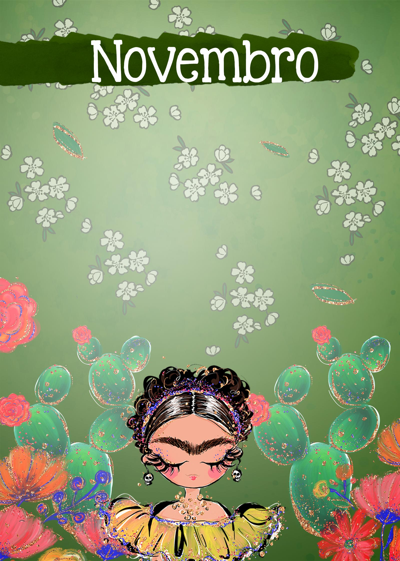 Planner Frida capa novembro