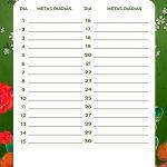 Planner Frida metas diarias agosto