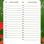 Planner Frida metas diarias set