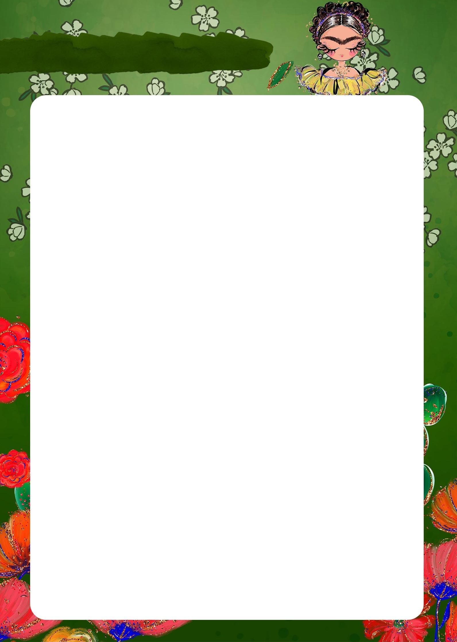 Planner Frida pagina em branco